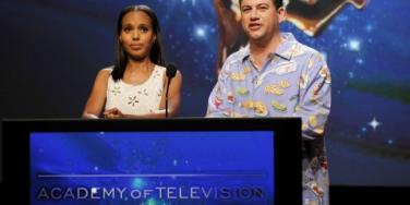 Kerry Washington and Jimmy Kimmel
