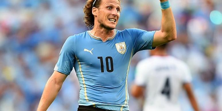 diego forlán in the world cup 2014.
