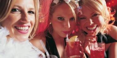 bachelorette party girls drinking partying