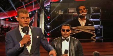 Blake Griffin, Chris Brown and Drake at the 2014 ESPYs