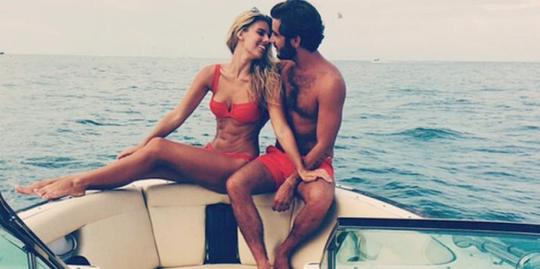 couple kissing on boat
