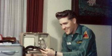 Elvis Presley in his army uniform