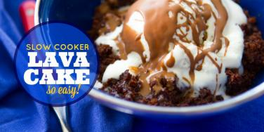 Slow Cooker Lava Cake