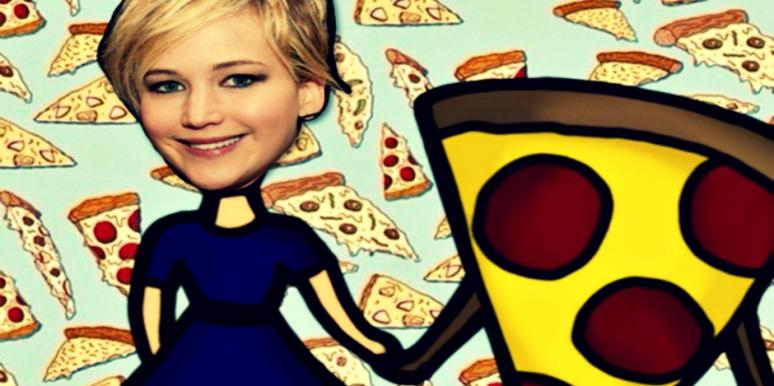 jennifer lawrence and pizza