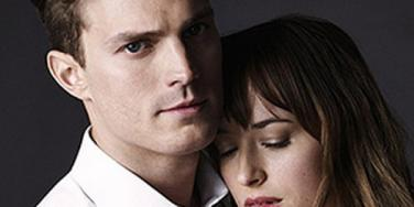 Jamie Dornan and Dakota Johnson in Fifty Shades Of Grey Movie