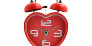 love time heart clock