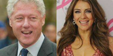 Bill Clinton and Elizabeth Hurley