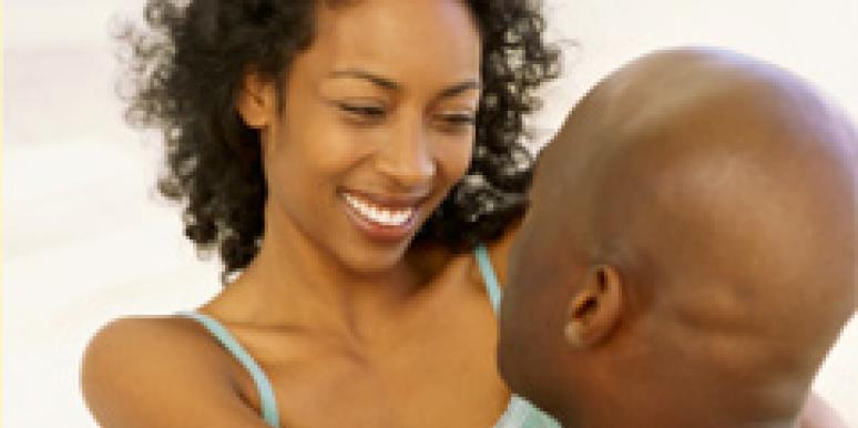 black couple face to face