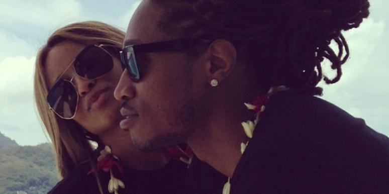 Ciara and Future in happier times when they were still engaged and she was only newly pregnant