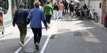 text walking lanes