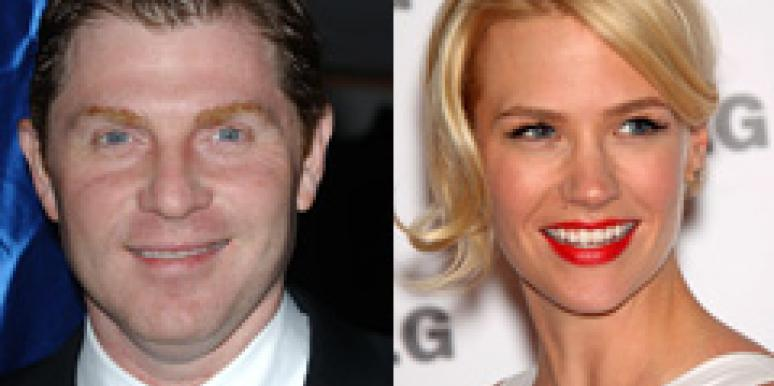January Jones Bobby Flay