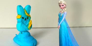 isney princesses reimagined using Peeps.