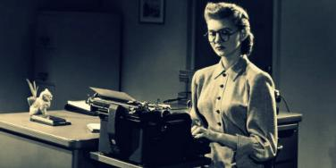 woman typewriter