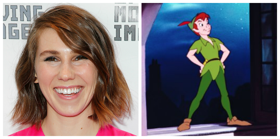 Zosia Mamet and Peter Pan - <i>Jemal Countess/Getty Images & Disney</i>