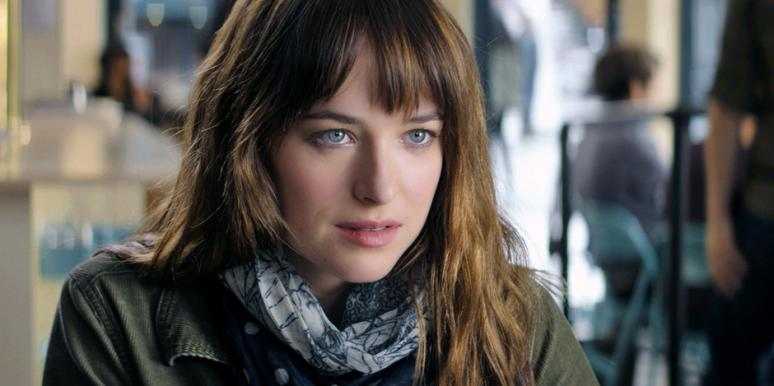 Dakota Johnson as Ana Steele in the '50 Shades Of Grey' movie