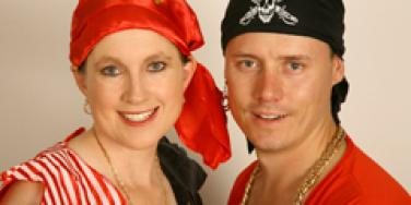couple dressed in pirate costume