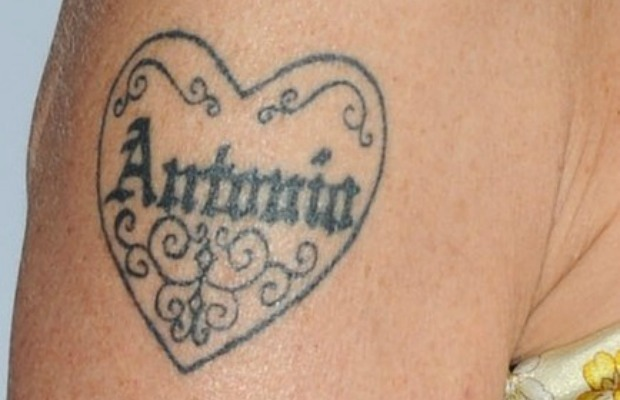 Melanie Griffith's tattoo
