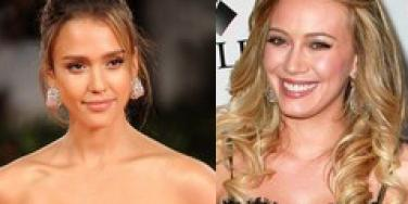 Jessica Alba and Hilary Duff