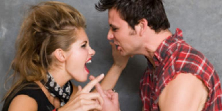 grunge man and woman arguing