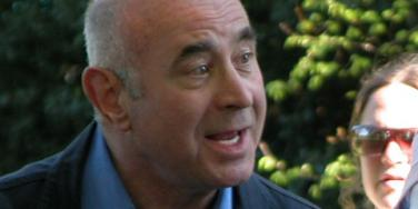 Bob Hoskins during the filming of 'Ruby Blue' in 2007.