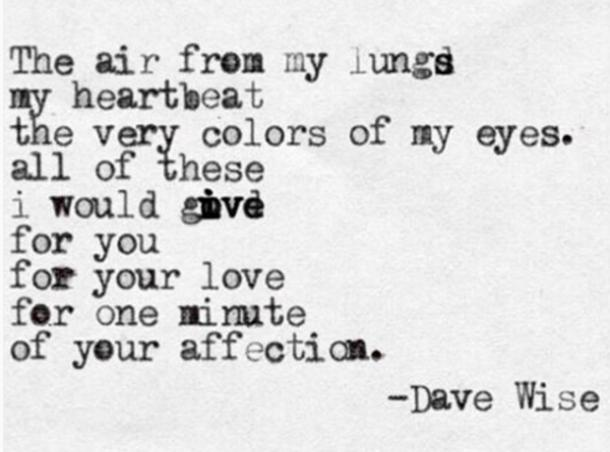 25 Quotes About Love & Heartbreak From Poet Dave Wise | YourTango