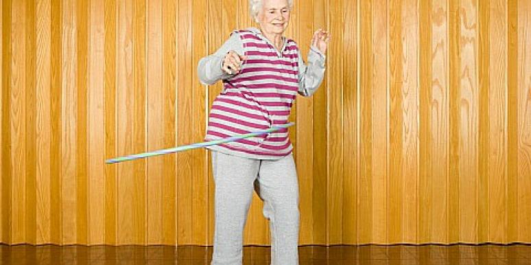 old woman dancing