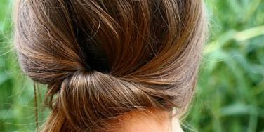 updo knot hairstyle