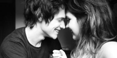 couple smiling at eachother